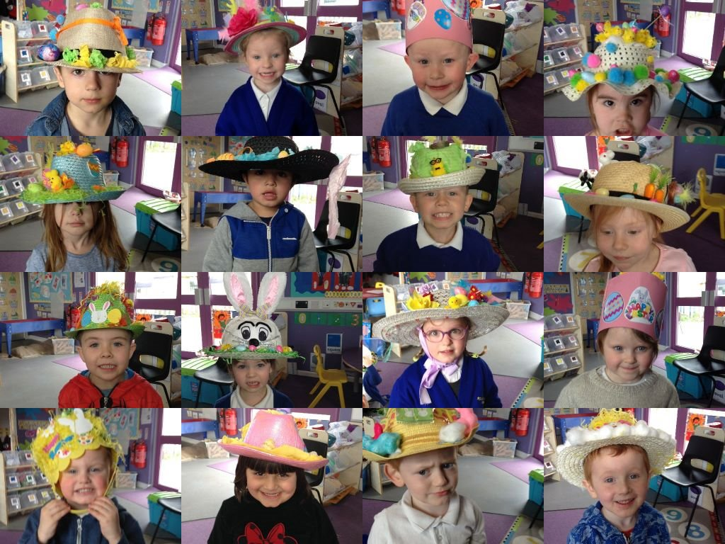 pm easter bonnet collage