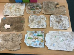 some of our treasure maps