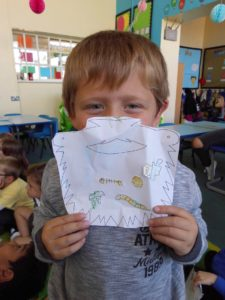 Teddy and his Mr Twit beard